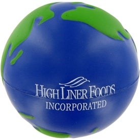Printed Earth Ball Stress Toy