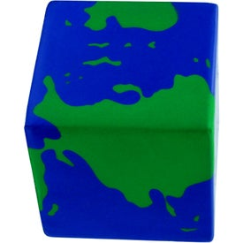 Earth Cube Stress Ball Branded with Your Logo