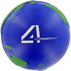 Earth Stress Ball with Your Slogan