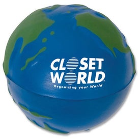 Earth Stress Ball (Blue with Green Continent)