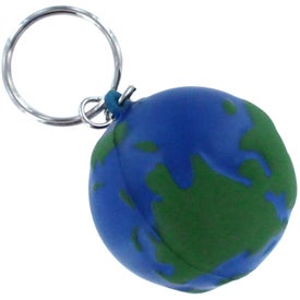 Imprinted Earth Stress Reliever Keyring