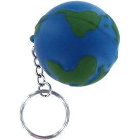 Customized Earth Stress Reliever Keyring