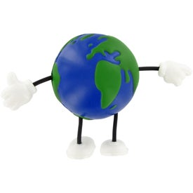 Earthball Figure Stress Ball Branded with Your Logo