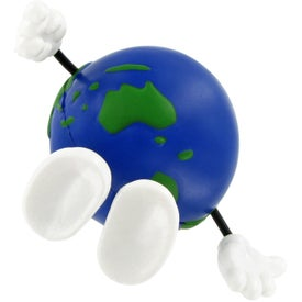 Advertising Earthball Figure Stress Ball