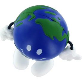 Monogrammed Earthball Figure Stress Ball