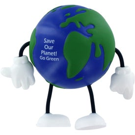 Branded Earthball Figure Stress Ball