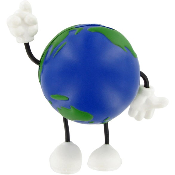 Blue / Green Earthball Figure Stress Ball