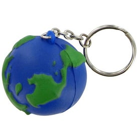 Earthball Keychain Stress Toy with Your Slogan