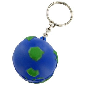 Earthball Keychain Stress Toy Printed with Your Logo
