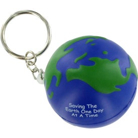 Logo Earthball Key Chain Stress Ball