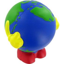 Advertising Earthball Man Stress Toy