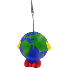 Printed Earthball Man Stress Ball Memo Holder