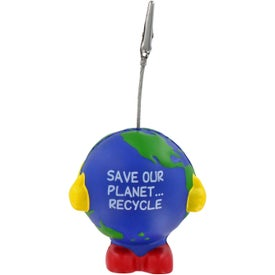 Printed Earthball Man Stress Ball Memo Holder