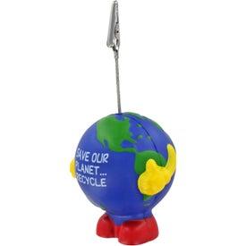 Earthball Man Stress Ball Memo Holder for your School