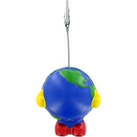 Earthball Man Stress Ball Memo Holder