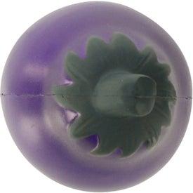Imprinted Eggplant Stress Ball