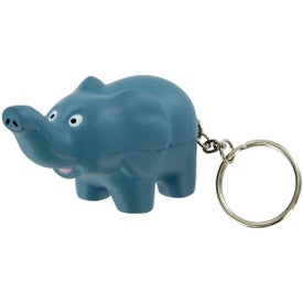 Branded Elephant Keychain Stress Toy