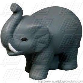Elephant with Tusks Stress Ball