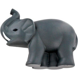 Imprinted Elephant Stress Ball with Tusks