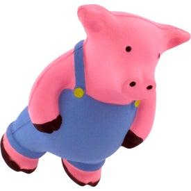 Printed Farmer Pig Stress Reliever