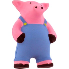 Farmer Pig Stress Reliever with Your Logo