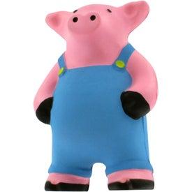 Promotional Farmer Pig Stress Reliever