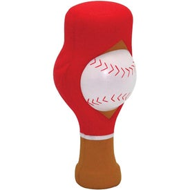 """Fast Reliever"" Baseball Stress Reliever for Advertising"
