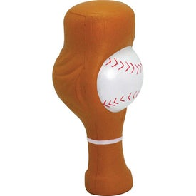 """Fast Reliever"" Baseball Stress Reliever Branded with Your Logo"