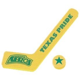 "Customized 19"" Foam Hockey Stick and Puck"