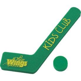 "19"" Foam Hockey Stick and Puck"
