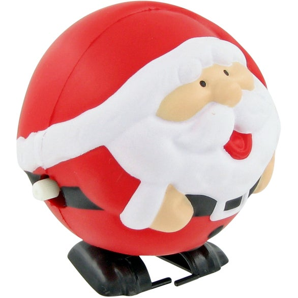 Red / White FIDO-DIDO Santa Ball Stress Toy