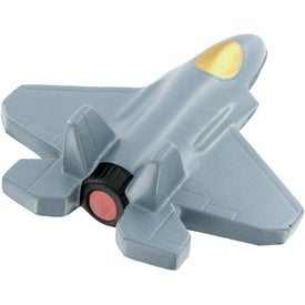 Imprinted Fighter Jet Stress Toy