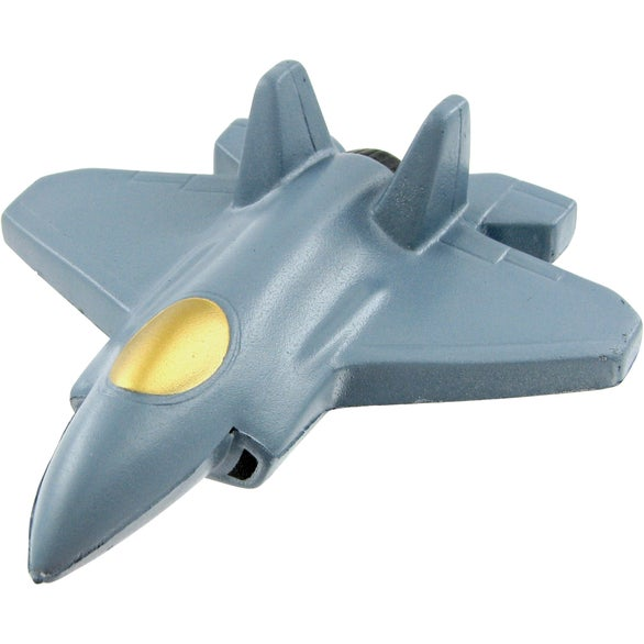 Silver Fighter Jet Stress Toy