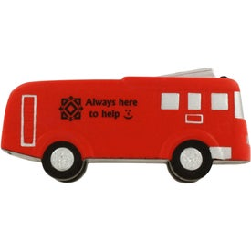Fire Truck Stress Ball with Your Slogan