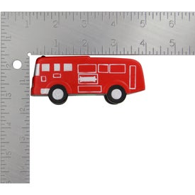 Imprinted Fire Truck Stress Ball
