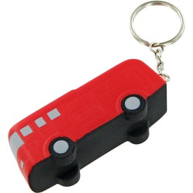Advertising Fire Truck Keychain Stress Toy