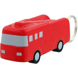 Promotional Fire Truck Keychain Stress Toy