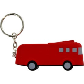 Fire Truck Key Chain Stress Ball with Your Slogan