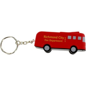 Logo Fire Truck Key Chain Stress Ball