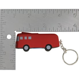 Branded Fire Truck Key Chain Stress Ball