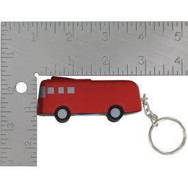 Branded Fire Truck Key Chain Stress Ball