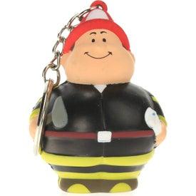 Custom Fireman Bert Stress Reliever Keyring