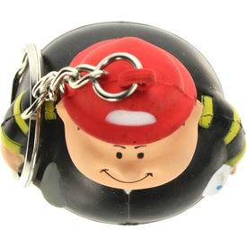 Branded Fireman Bert Stress Reliever Keyring