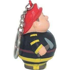 Fireman Bert Stress Reliever Keyring for Advertising