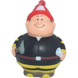 Fireman Bert Stress Reliever Keyring for Your Organization