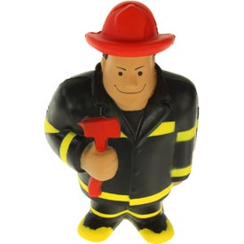 Fireman Stress Ball with Your Slogan
