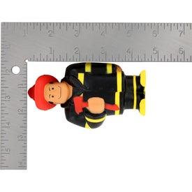Fireman Stress Ball Printed with Your Logo