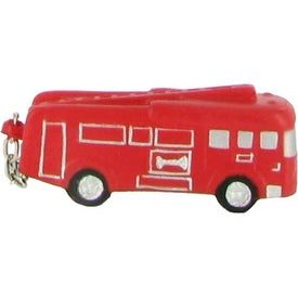 Custom Fire Truck Key Chain Stress Ball