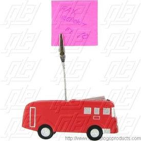 Fire Truck Stress Ball Memo Holder for Marketing