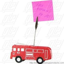 Advertising Fire Truck Stress Ball Memo Holder